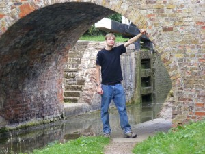 Me posing beneath a bridge